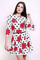 Красивые женские летние платья | Розы-горох платье Мия-1Ф д/р