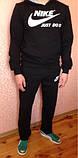 Мужской спортивный костюм, р. М, бордово-черный, фото 5
