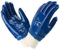 Перчатки рабочие полнозалитая манжета нитриловые, фото 1