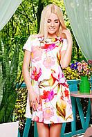 Модные женские летние платья | Белые лилии платье Тая-2 к/р