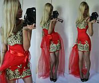 """Шикарное платье с фатином """"Золушка"""" (3 цвета)"""