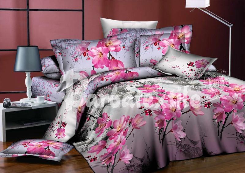 Семейный набор хлопкового постельного белья из Ранфорса №044 Черешенка™