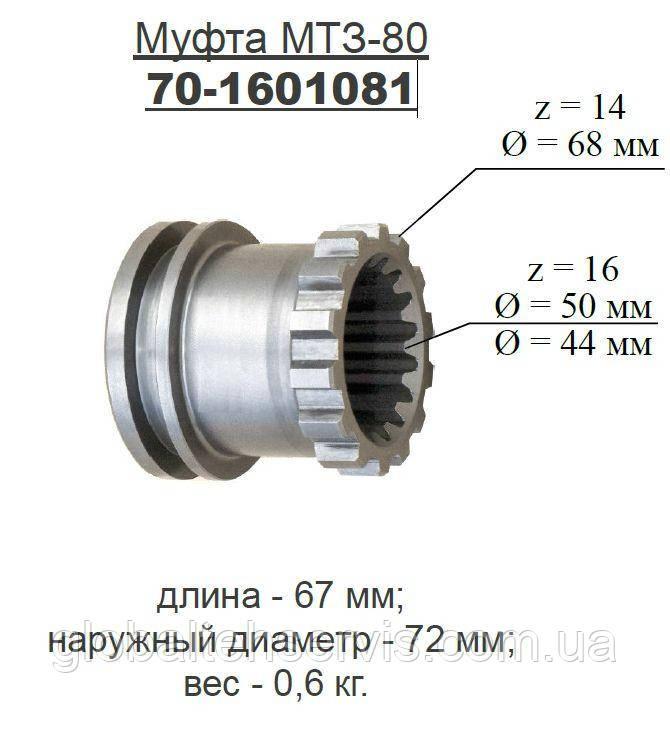 Муфта МТЗ соединительная 1081 (пр-во МТЗ)