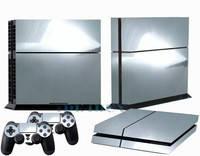 Скины для Sony Рlaystation 4 + 2 геймпада Хром