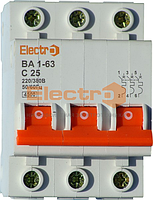 Автоматический выключатель ВА 1-63 С 1 А 3-х пол