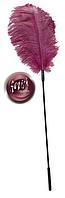 Перышко розовое на палочке для интимных игр Feder pink
