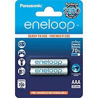 Аккумулятор AAA 750mAh Panasonic Eneloop Ni-MH блистер (2шт) (BK-4MCCE/2BE)