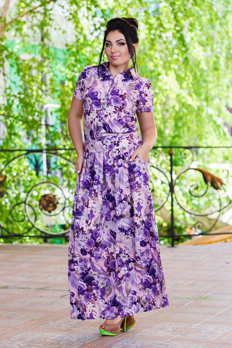 М401/1 Длинное платье  размеры 50-56