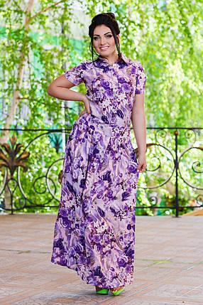 М401/1 Длинное платье  размеры 50-56, фото 2