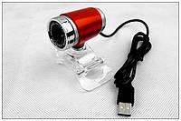Веб-камера 0.3 Мп PRC HD 890 без микрофона Red (без микрофона)