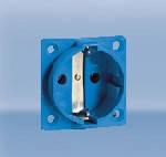 Розетка приборная, термопласт фланец без крышки 16A Ампер, 2P+E три полюса, 250В, цена купить