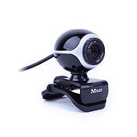 Веб-камера 0.3 Мп с микрофоном Trust Exis Webcam Black Silver -17003