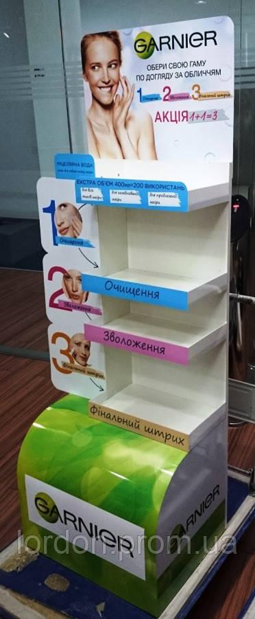 Рекламная торговая стойка стенд для косметической продукции - Лордон Лтд в Киеве