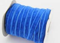 Лента бархат синяя ш-1см