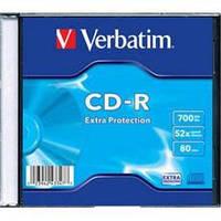Диск 1 шт. CD-R 700Mb + конверт Verbatim box 100 -280010