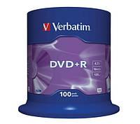 Диск 1 шт. DVD + R 4.7GB + конверт Verbatim box 100