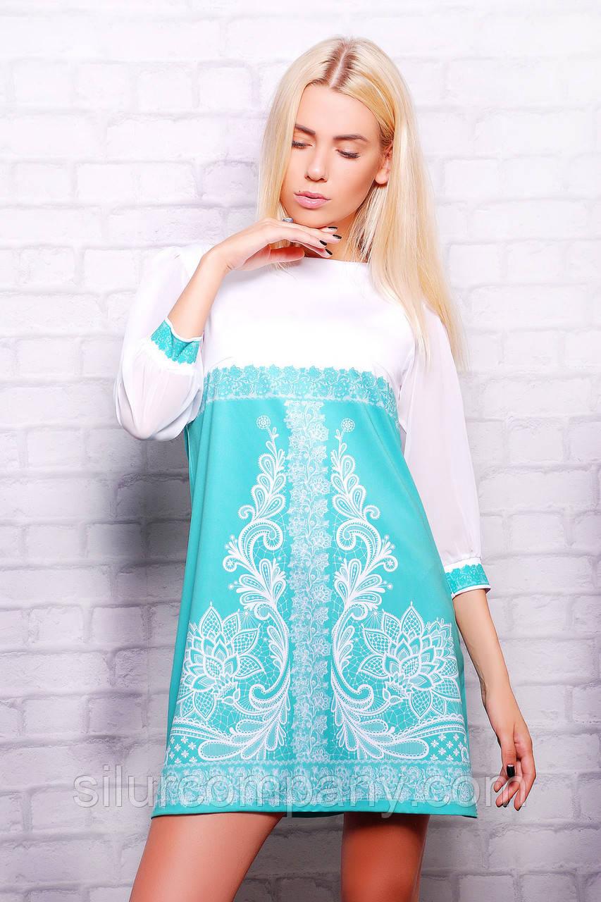 521927c66132 Модные платья   Кружево мята платье Тая-1 (шифон) д р  продажа, цена ...
