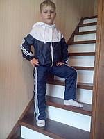 Детский спортивный костюм хорошего качества из плащевки подкладка сетка на лето