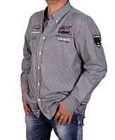 Рубашка мужская Paul Shark-2001 темносерая
