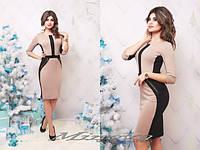 Вечернее платье (25)3040 Размер: S, M, L, XLЦвет: красный+черный, беж+черный