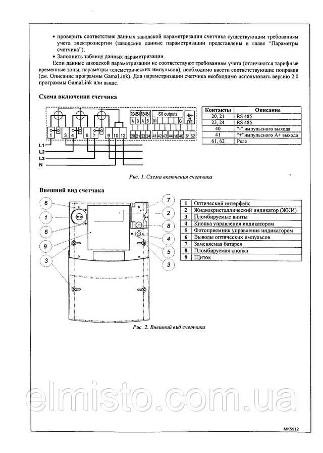 паспорт счетчика электроэнергии GAMA 300