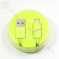 Кабель USB (папа) = iPhone 5/iPhone 6 Lightning USB Cable Шайба Green