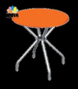 Стол Beta Бета круглый пластик с алюминиевыми ножками