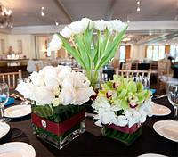 Оформление цветами свадьбы | Оформление президиума