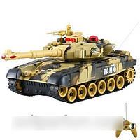 Детский боевой танк 9993 на радиоуправлении (коричневый)