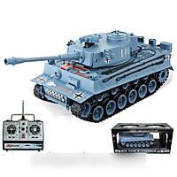 Танк на радиоуправлении прототип танка Тигр масштаб 1:20 стреляет пульками, YH4101B-1/2 (серый)