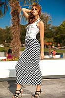 "Модное платье ""Chanel"" (4)13629 ч/б шахматка"