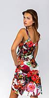 """Шикарное платье """"Запах орхидеи"""" (4)13611 цветы"""