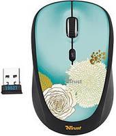 Мышка беспроводная Trust Yvi Wireless Mini Mouse Flower -19521