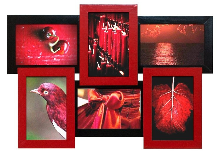 Мультирамка «Красное и Черное» (6 фото) ДЕРЕВО