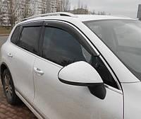Дефлекторы окон (ветровики) Nissan X-Trail 2014- С Хром Молдингом
