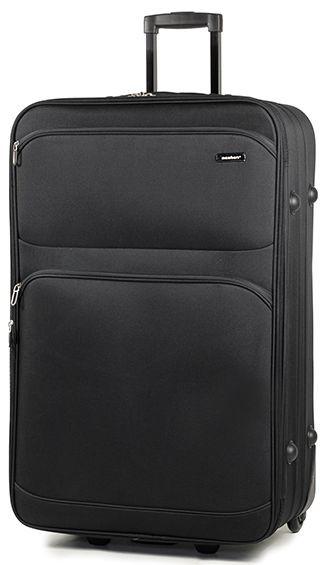 Замечательный тканевый 2-х колесный чемодан 97 л. Members Topaz (L), 922612 черный