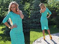 """Шикарное цветочное платье """"Лагуна"""", зеленый , фото 1"""