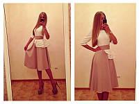 """Оригинальное платье """"Марго"""", белый+розовый, фото 1"""