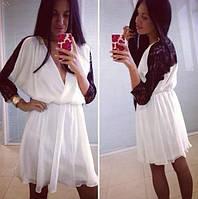 """Элегантное платье """"Джаз"""", черный+белый (р-р универсальный), фото 1"""