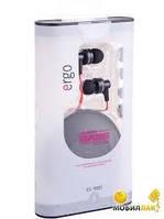 Наушники вакуумные с микрофоном Ergo ES-900i Black -5966607