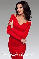 Облегающее платье с вырезом декольте (2 цвета)