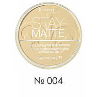 Матирующая пудра - Rimmel Stay Matte (Оригинал) №004 (Sandstorm)
