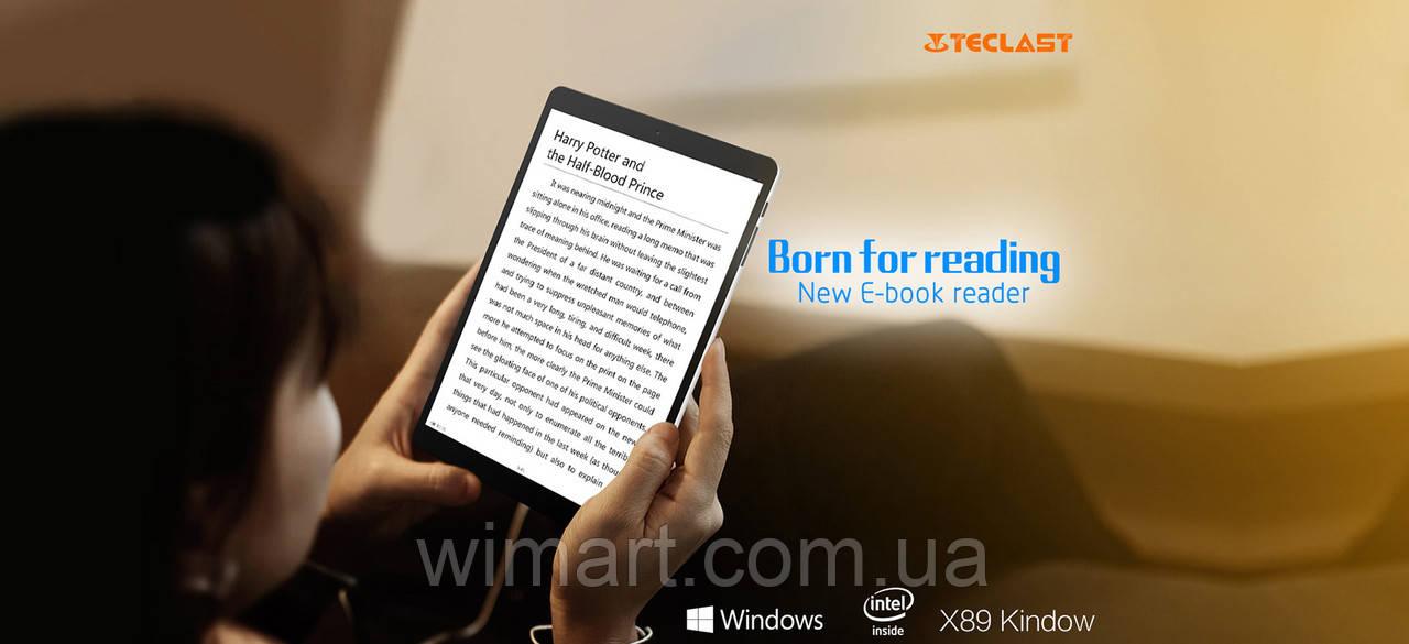 "Teclast X89 Kindow Reader Z3735F 7.5"" IPS 2/32GB Windows 10 + Android 4.4"
