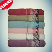 Махровое банное полотенце 70*140 Турция хлопокове, фото 1