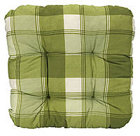 Подушка для стула 40 x 40 x 8 см клетка салат