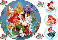 Вафельная картинка для тортов Принцесса Русалка 2