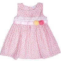 Нежное летнее платье для девочек украшенное кружевом и розами