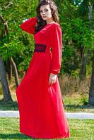 """Оригинальное длинное платье """"Мартини"""", красный , фото 1"""