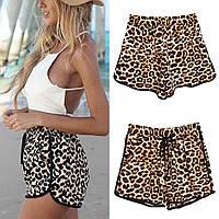 Женские шорты свободного покроя для пляжа леопардовые