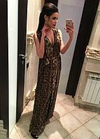 """Шикарное шифоновое леопардовое платье """"Золото лео"""""""